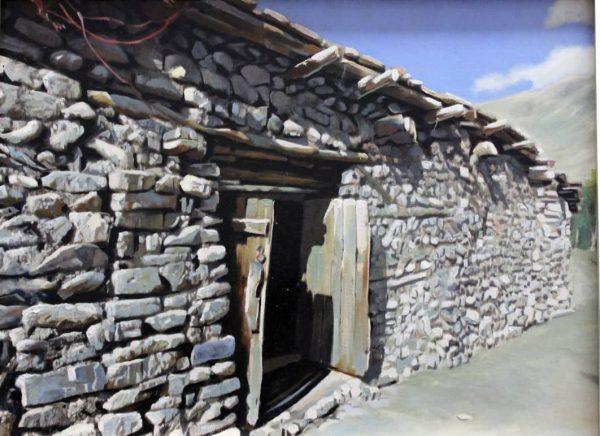 تابلو نقاشی خانه سنگی