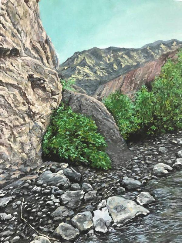 تابلو نقاشی صخره