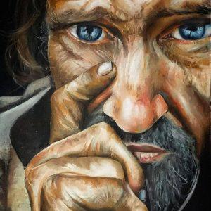 مرد چشم رنگی