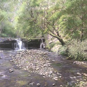 تابلو نقاشی گسیل چالوس آبشار