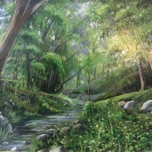 تابلو نقاشی جنگل